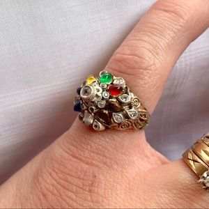 Vintage 14Kt Thai Princess Harem Ring